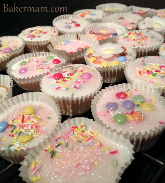 Decorated fairy cakes