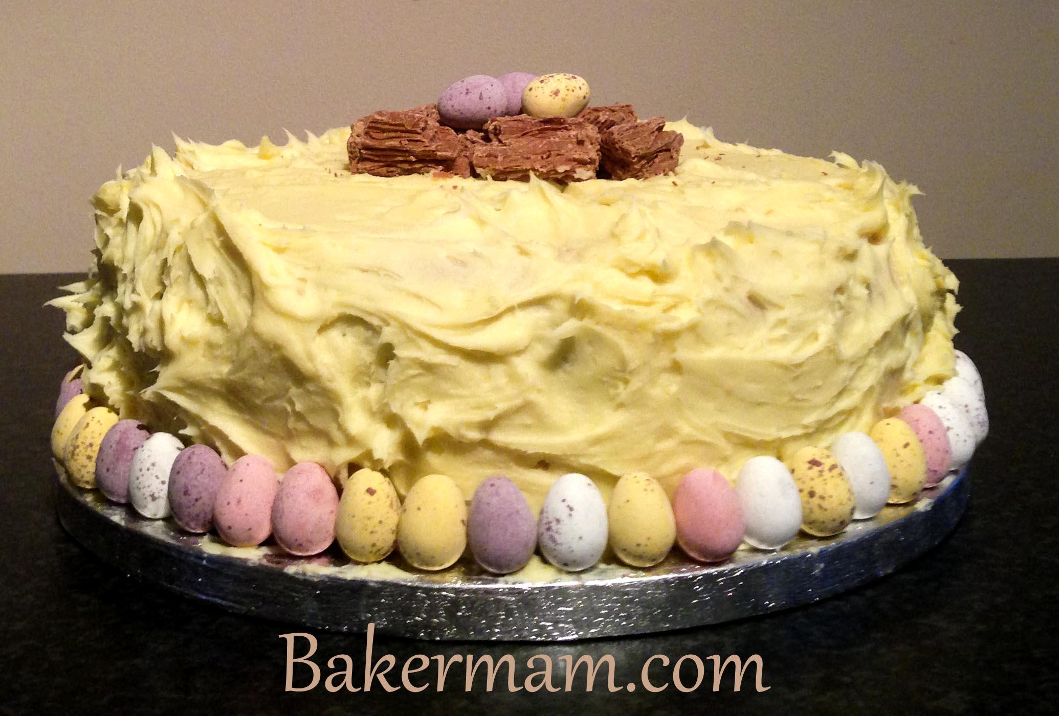 White Chocolate Ganache Cake Bakermam