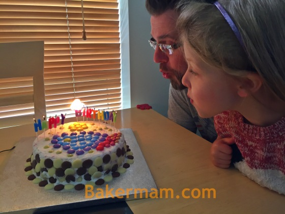 Blowing out the candles before they melt the cake!!